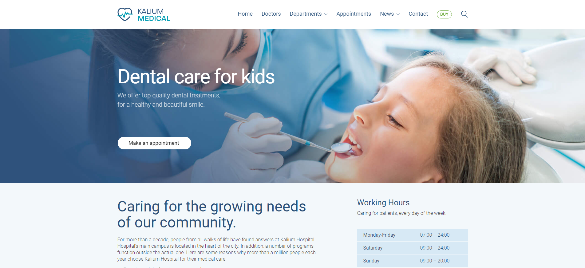 Bild von Wordpress Theme Kalium Medical
