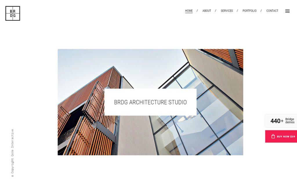 Bild des Theme Bridge in der Architektur Variante