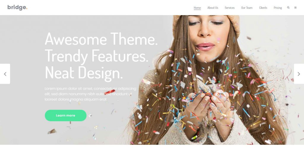 Bild vom Wordpress Theme Bridge in Design für Kreativstudio