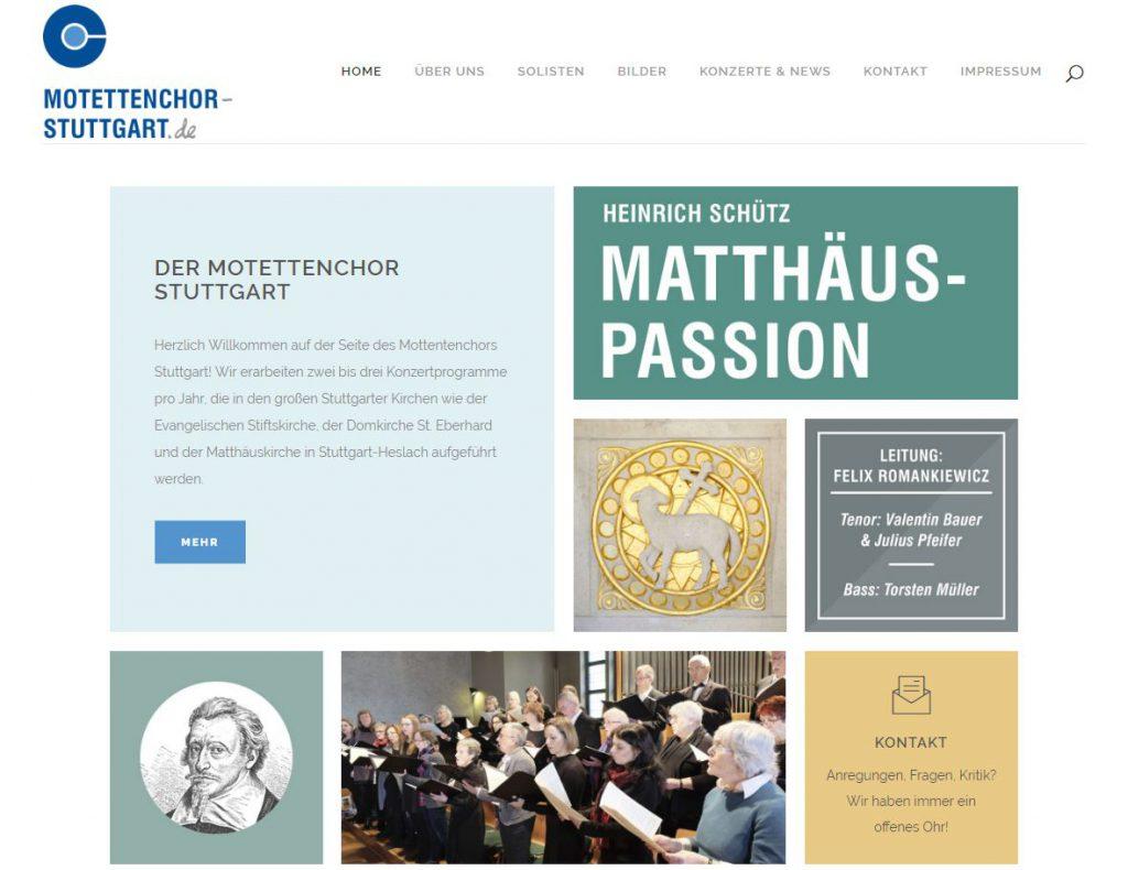 Bild der Motettenchor Stuttgart Website