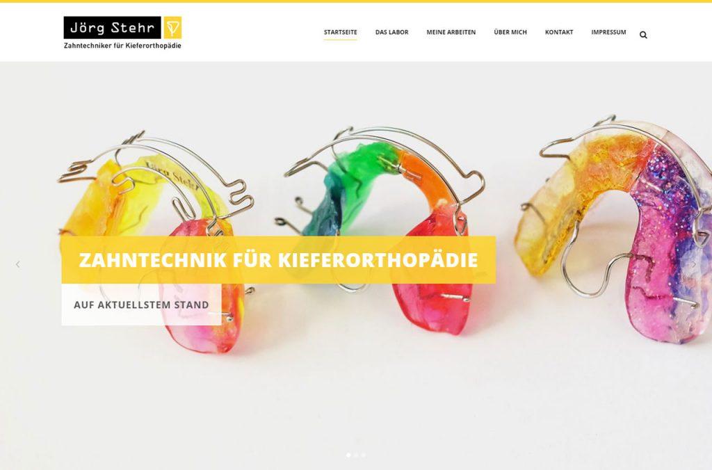 Bild der Startseite von KFO für Zahntechnik Jörg Stehr, Stuttgart