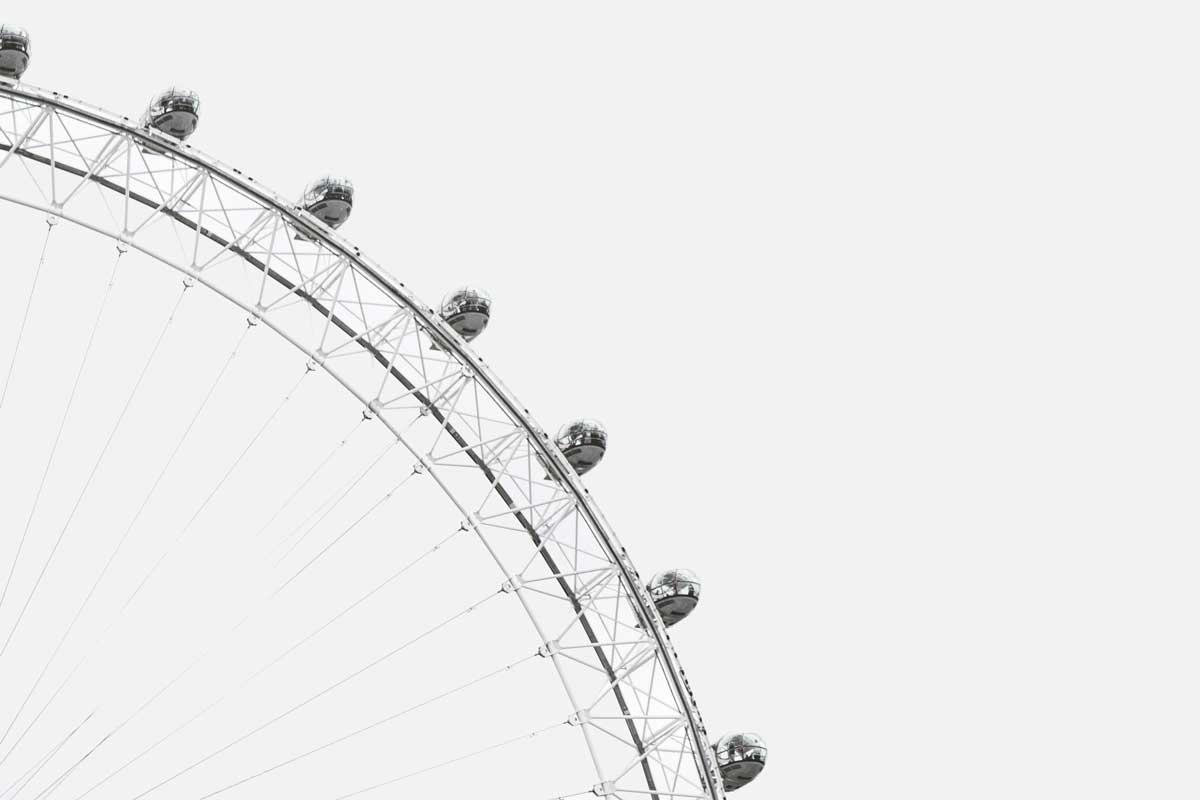 Bild eines Riesenrads. Sorgen Sie dafür, dass Ihre Website lange betrieben werden kann.