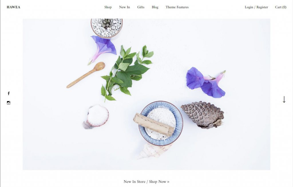 Beispiel WordPress Theme für Startup Websites: Theme HAWEA, Elmastudio, Blog