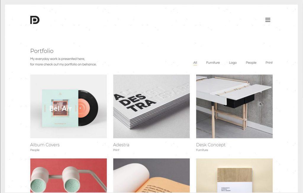 Beispiel WordPress Theme für Startup Websites: Theme Kalium, Portfolio