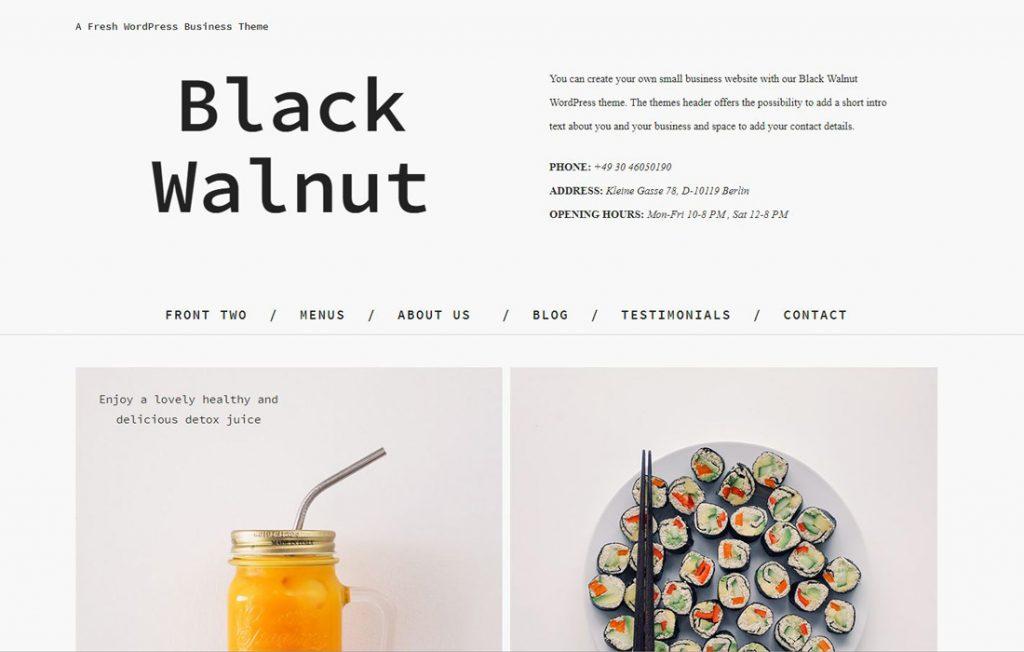 Beispiel WordPress Theme für Startup Websites: Theme Black Walnut, Elmastudio, Business